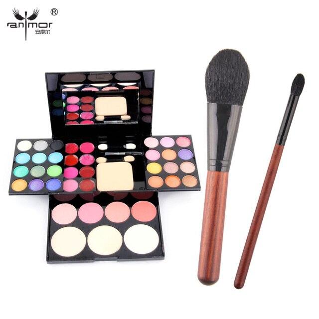 New Makeup Kit 39 Colors Eye Primer Luminous Eyeshadow Makeup Palette With Powder Eyeshadow Brushes