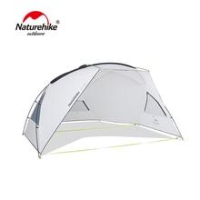 Naturehike Single Layer Tent Aluminum Alloy Poles Large Family Beach Tarp Awning UPF40 Sun Shelter Outdoor Camping все цены