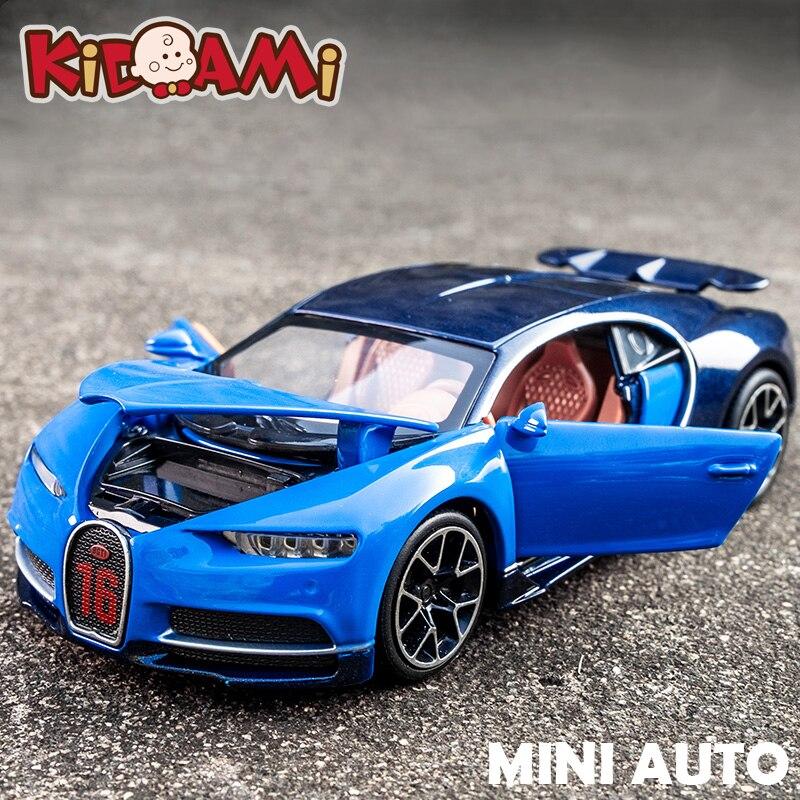 Kidami 1 32 Aleacion Bugatti Chiron Atras Fundicion Escala Coche