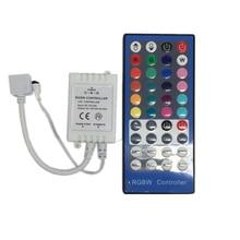 цена на Conntroller 40Key Strip RGBW/RGBWW SMD 5050 LED Strip Light DC 12V 24V 6A IR Infrared Remote Controller Dimmer 20 Colors