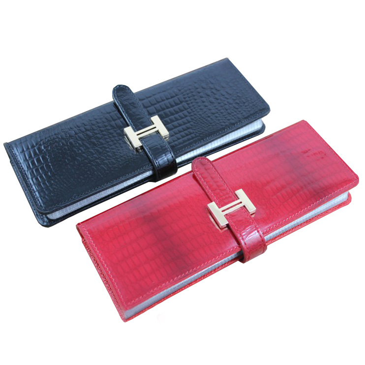 2016 NEW women credit card holder men wallets card book genuine ...