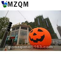 2017 hot sales diameter 4/5/6m outdoor decorating pumpkins inflatable pumpkin with solar halloween light 420D Oxford