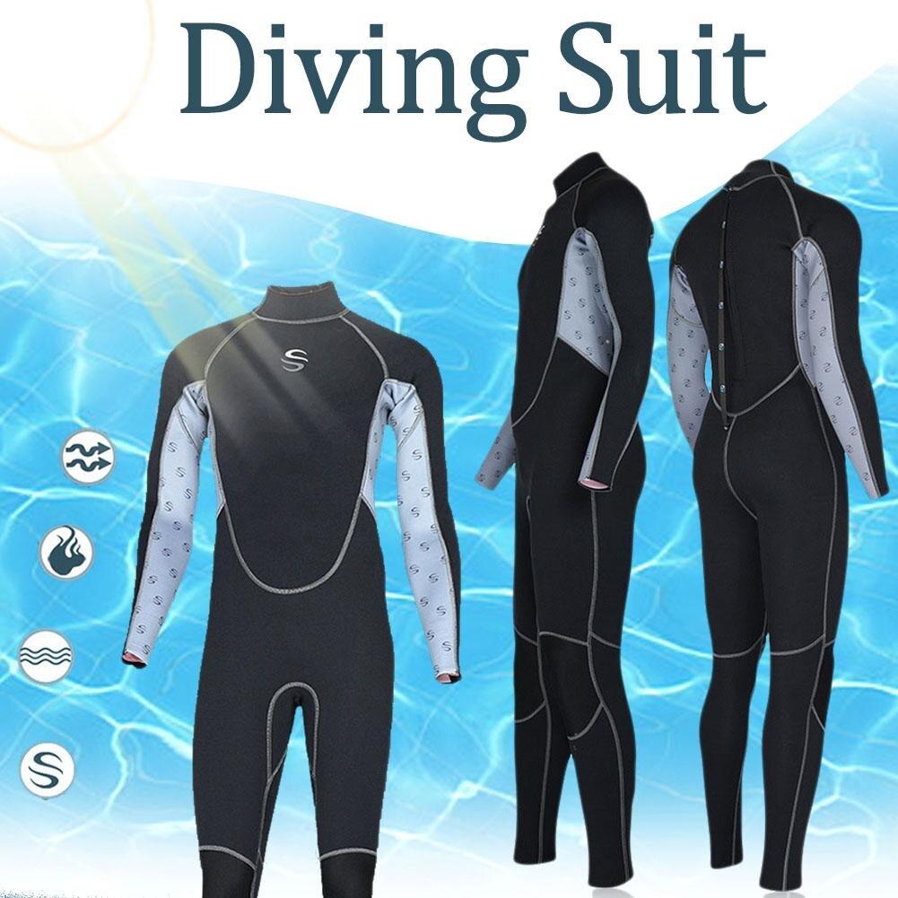 SLINX 2mm Slim combinaisons haute-élastique néoprène hommes une-pièce crème solaire garder au chaud plongée sous-marine combinaison corps complet plongée en apnée maillot de bain