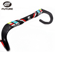 Newest FUTURE Carbon Fiber Bike Handlebar Road Cycling Bicicleta Bent Bar 31 8 400 420 440mm