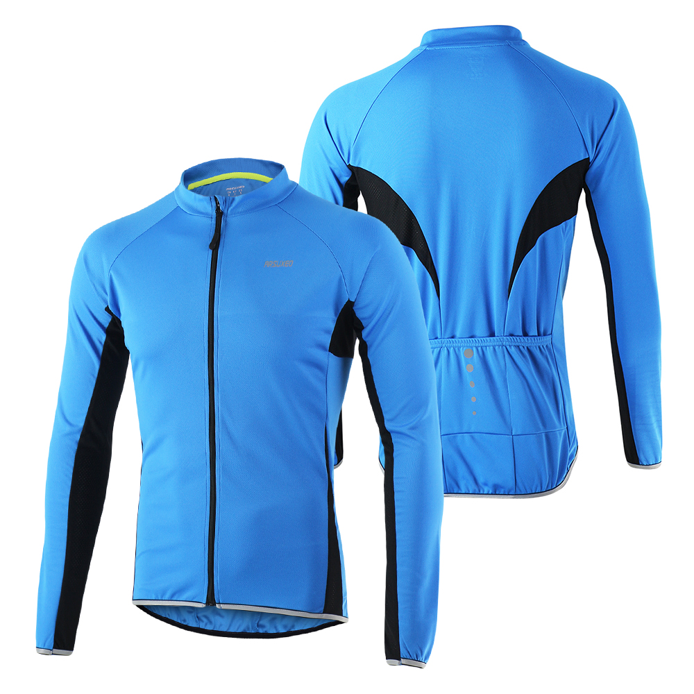 c4e516e0b3f6f Detail Feedback Questions about Arsuxeo Sports Cycling Jackets Bicycle Full  Zip Long Sleeve MTB Bike Riding Jersey ciclismo clothing riding racing  Sportwear ...