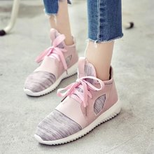 HOT women trainers casual lace-up women's sport shoes autumn breathable walking shoes winter zapatillas deportivas mujer flats