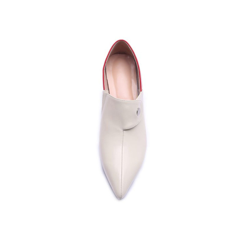 Sexy forme Hauts Pompes Les Eté Automne Apricot Glissement Sur Femmes Chaussures Femme Talons Mode noir De Plate Printemps MinceY0795093f nO0kwP