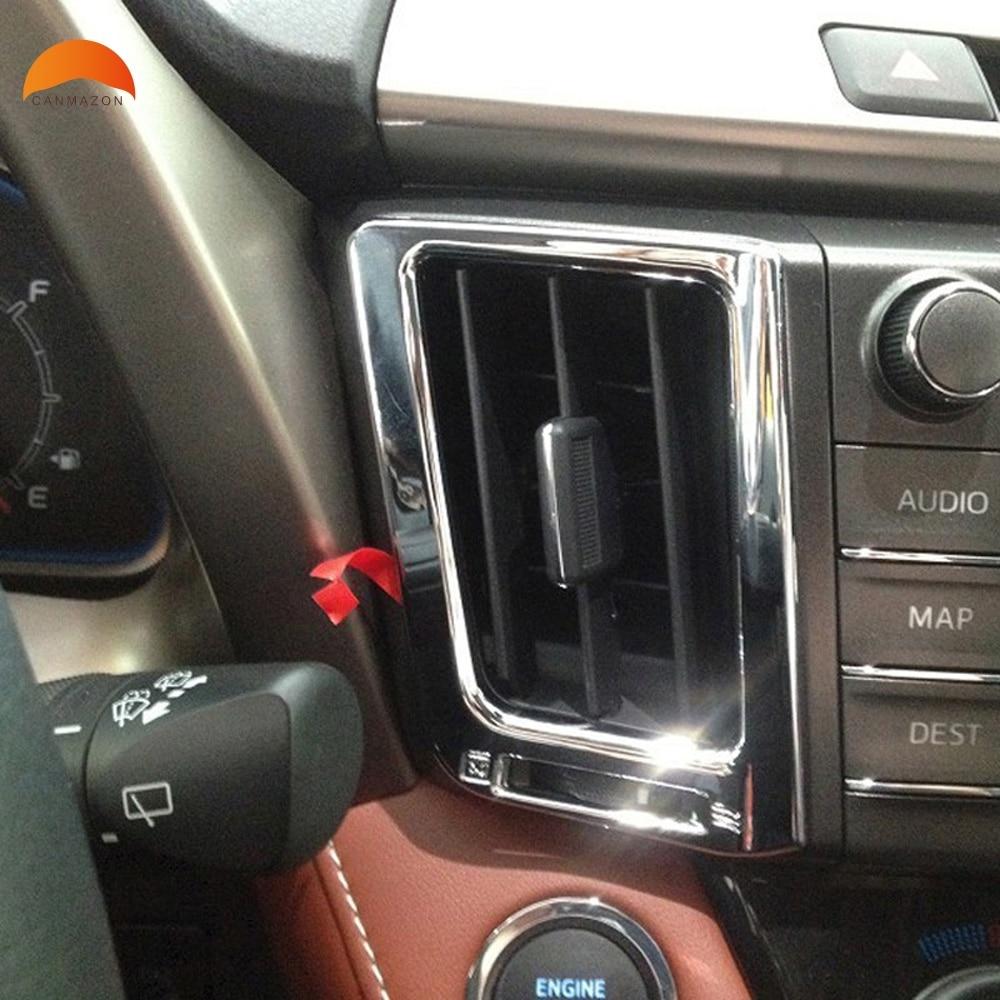 For Toyota RAV4 RAV 4 2013-2016 2017 ABS Chrome Interior Console Air Vent Cover Trim Door Handle Frame Decoration 8PCS