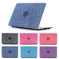 """Luxury Jean Cloth & Hard Plastic Laptop Cover Case For Apple Macbook Air 11.6"""" 12"""" 13.3"""" 15.4"""" Pro With Retina"""