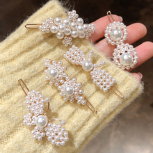 Sale 1PC Imitation Pearls Sweet Women Hair Clip Metal Barrette Female side clip Styling Tools