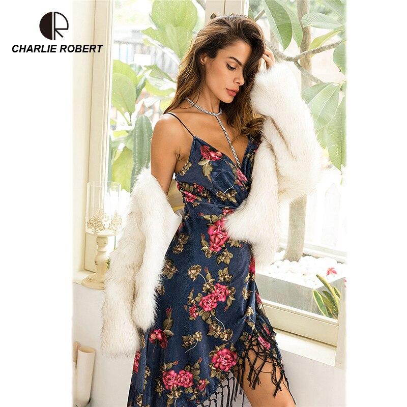 Correa Descubierta Vestido En V Vestidos Sexy Espalda Cuello Club De Cr Borla Nuevo Fiesta Mujer qUVGSMpz