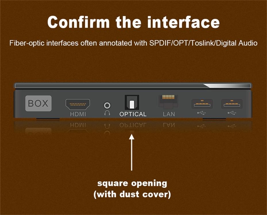 3 Carbon Fiber Shell Digital SPDIF Optical Toslink Audio Cable OD8.0