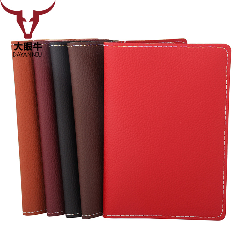 New Litchi Pattern Microfiber Leather Passport Cover Men Travel Passport Holder Card Case Man Card High Quality Luggage & Bags