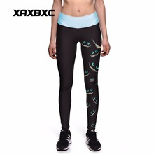 0014 Plus Size High Waist Silm Fitness Women Leggings Elastic Pants Trousers Sexy Girl Alice in