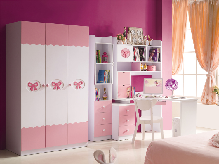 Children's furniture suite combination princess girl