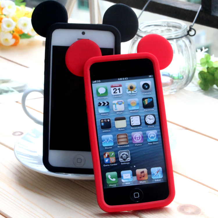 Newest 3D Bumper Case For iphone 5 5s Cute Cartoon Mickey