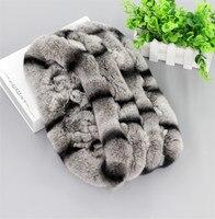 Unisex Real Rex Rabbit Fur Handmade Infinity Scarf Scarves Endless Snoods Cowl