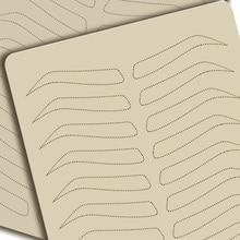 Microblading لوازم الحاجب ممارسة اللاتكس الجلد تجميل دائم الوشم الحاجب التدريب كلا الجانبين لا الحبر اللازمة التنقيط خط