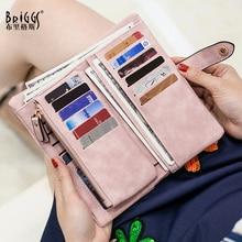 купить Top Sale Female Wallet Vintage PU Leather Long Women Wallet Change Clasp Purse Money Coin Card Holders Womens Wallets and Purses по цене 874.06 рублей