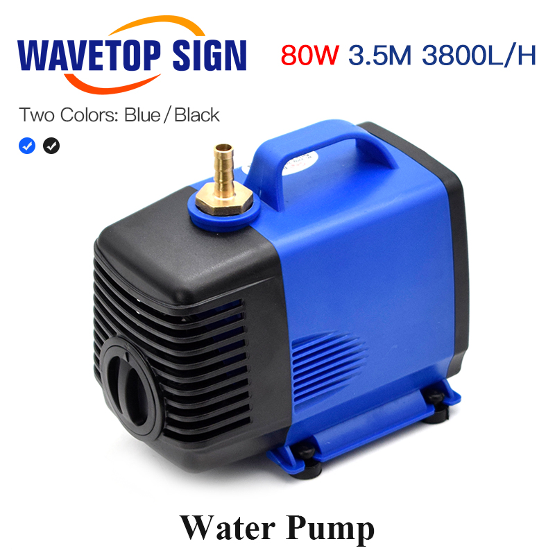 WaveTopSign Multi-Function Submersible Water Pump 80W 3.5m 3800L/H 220VAC For CO2 Laser Engraving Cutting Machine