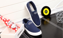 New 2016 woman elastic canvas shoes a pedal comfortable flat casual shoes