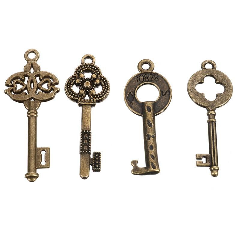 Retro 40pcs//lot Antique Vintage Decor Women Jewelry Hanging Skeleton Keys Decor