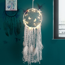 Dream catcher lamp birthday girl Indian feather pendant art gift retro ins wind gift ins hot feather 70