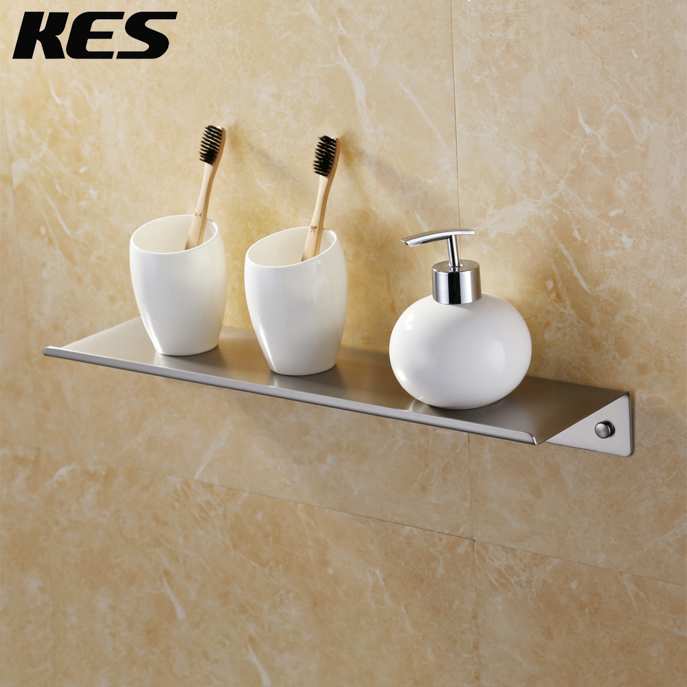 Kes bathroom shower shelf stainless steel 45 cm shower - Bathroom shelves stainless steel ...