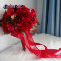 Artificial bouquet RED bouquet wedding ramo de novia bouquet fleur mariage bruidsboeket bridal bouquet Bridesmaid Flowers