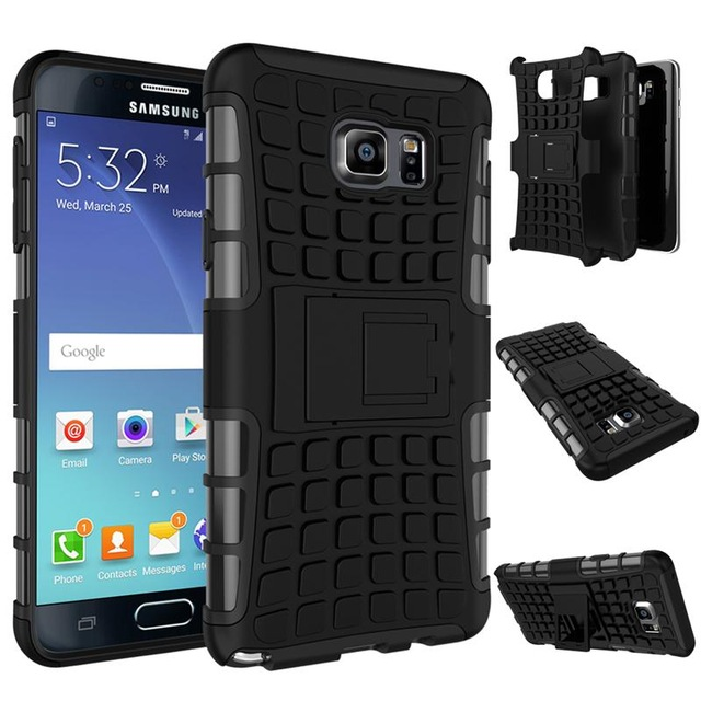 official photos 53216 2a32f US $2.49 |Rugged Rubber Hybrid TPU+PC Armor Case For Samsung Not5 Silicone  Hard Back Cover For Galaxy N9208 with HD screen film gift on Aliexpress.com  ...