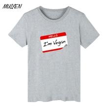 """HELLO, I'm Vegan"" men's t-shirt"