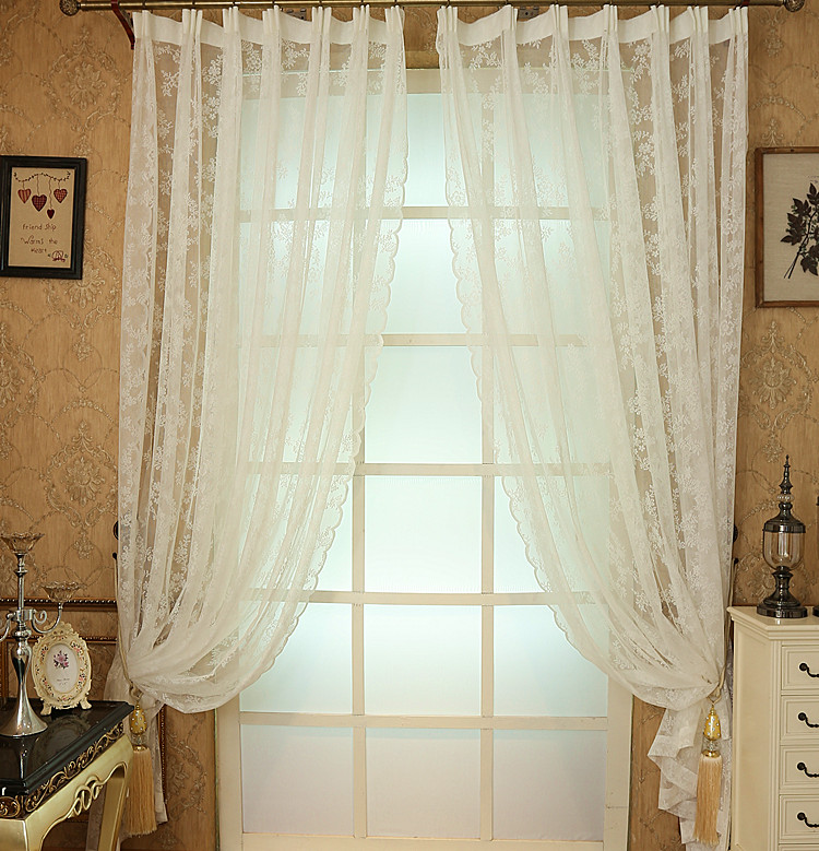 Modern Rustic Design Lace Organza Tulle Curtain Fabric