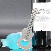 1 PCS Creative Portable Stainless Steel Guitar Shaped Beer Bottle Opener Bar Tools Barware Creative Gift