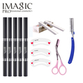 5in1 Eyebrow Tools Set Eyeliner Models Card Scraping Knife Stainless Steel Eye makeup sets Free Shipping