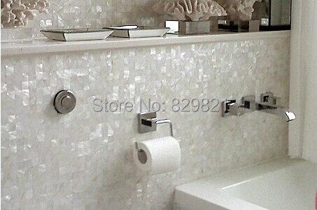 awesome great natural madre concha de perla azulejos de mosaico azulejo de la cocina backsplash cuarto de bao ducha baera de malla deco azulejo blanco de la - Azulejos Cuarto De Bao