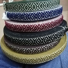 25MM width Cotton Webbing Ribbon Woven Wedding Decorative Lace Accessories DIY Handmade Materials 5Yards