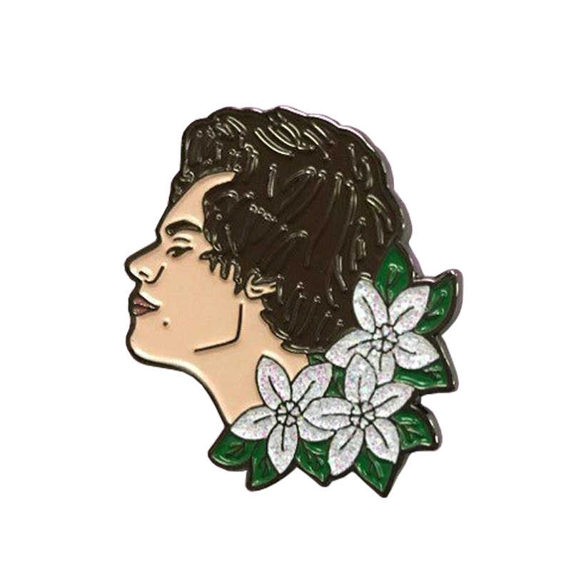 Harry styles Blume Emaille Revers Pin
