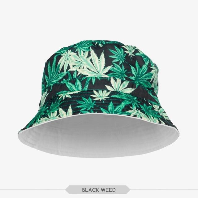46af60ef514 Men s Galaxy Weed Bucket Hats 2015 Designer Black Bucket Hats basin of  maple leaf design cotton padded cap pineapple bucket hats