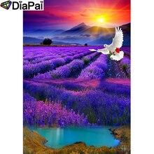 DIAPAI 100% Full Square/Round Drill 5D DIY Diamond Painting Pigeon lavender Diamond Embroidery Cross Stitch 3D  Decor A18965 a1422 diamond embroidery home decor pigeon 100