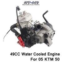 С водяным охлаждением двигателя 2 ход 47CC 49CC для 05 KTM 50 JR SX 50 SX PRO Старший мини АТВ грязь пит Крест велосипед