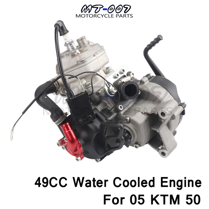 Water cooled engine 2 stroke 47CC 49CC for 05 KTM 50 JR SX 50 SX PRO SENIOR Mini ATV Dirt Pit Cross Bike