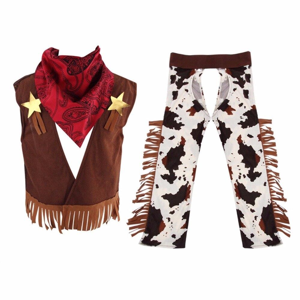 Cowboy Kostüm für Kleine Jungen Rolle Spielen, jungen Cowboy Kostüm Outfit Kostüm West Rodeo Halloween Party