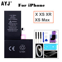 AYJ High Quality Battery for iPhone X XS Max XR Built-in Replacement Capacity Tools Kit