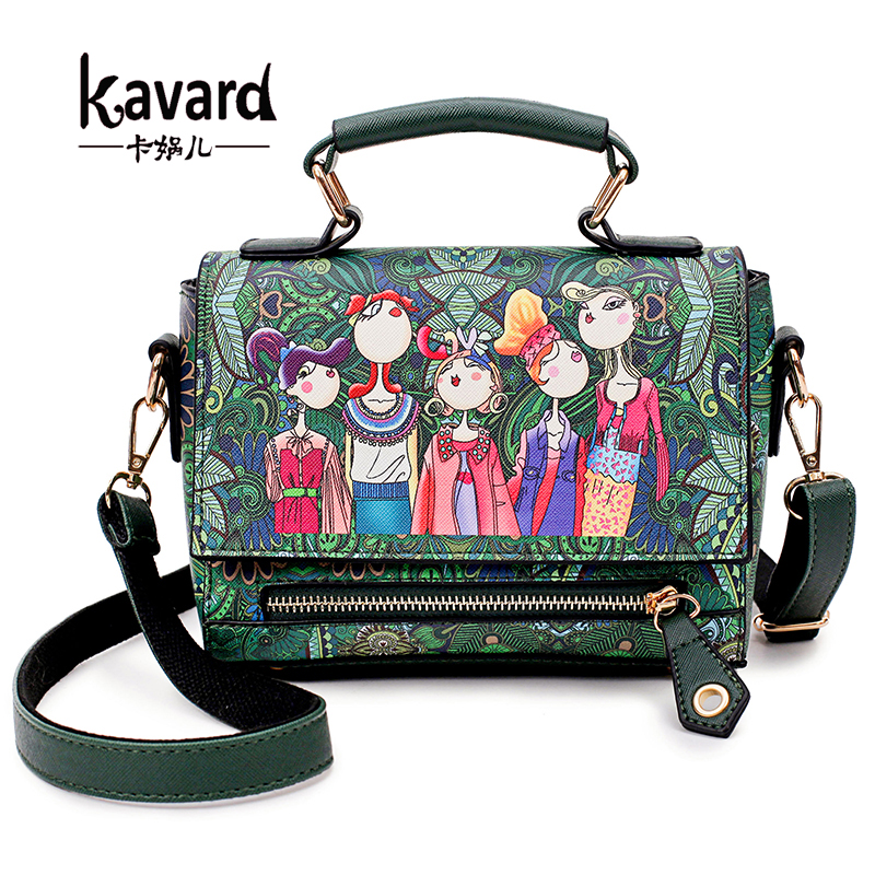 kavard beach bag Floral crossbody GREEN bags for Women Bags Designer Leather Handbag ladies hand bag Sac a main femme de marque luxury handbags women bags designer retro embossed hand painted leather bag brand ladies hand bags sac a main femme de marque