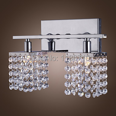 Contemporary and contracted crystal wall lamp hotel lamp sitting room wall lamp Contains LED bulb free shipping contracted modern wall light sitting room corridor led wall lamp wall sconces lighting contains bulbs free shipping