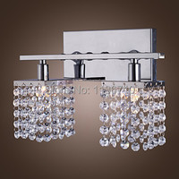 Contemporary and contracted crystal wall lamp hotel lamp sitting room wall lamp Contains LED bulb free shipping