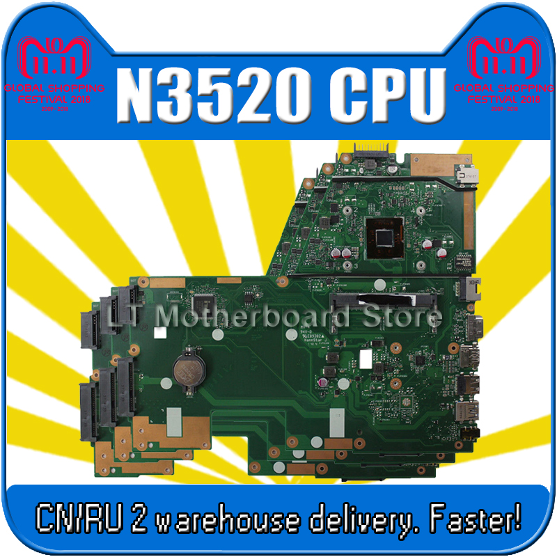 X551MA Motherboard N3520U REV2.0 For ASUS X551MA X551M Laptop motherboard X551MA Mainboard X551MA Motherboard test 100% OK free shipping the laptop motherboard for asus x551ma rev 2 0 with n2830u full test and work perfect