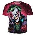 Moda de nova The Joker T Camisa Engraçada de T Camisas de Impressão Comics Joker Poker Com Homens Da Camisa do Verão T Top Camisetas Masculina