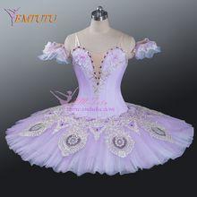 lilac fairy tutu women professional ballet tutu ballerina pancake platter classical performance ballet costume professional tutu