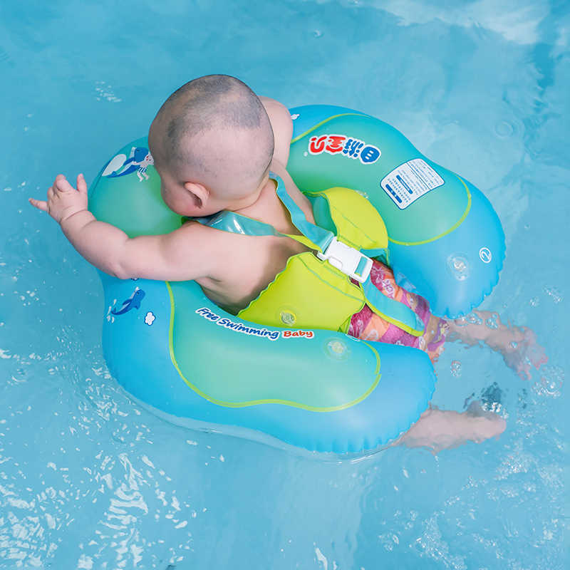 Freeswimming Baby Swim Ring Float Inflatable Kids Swimming Pool Accessories Infant Circle Inflatable Raft Children's Toy Dropshi